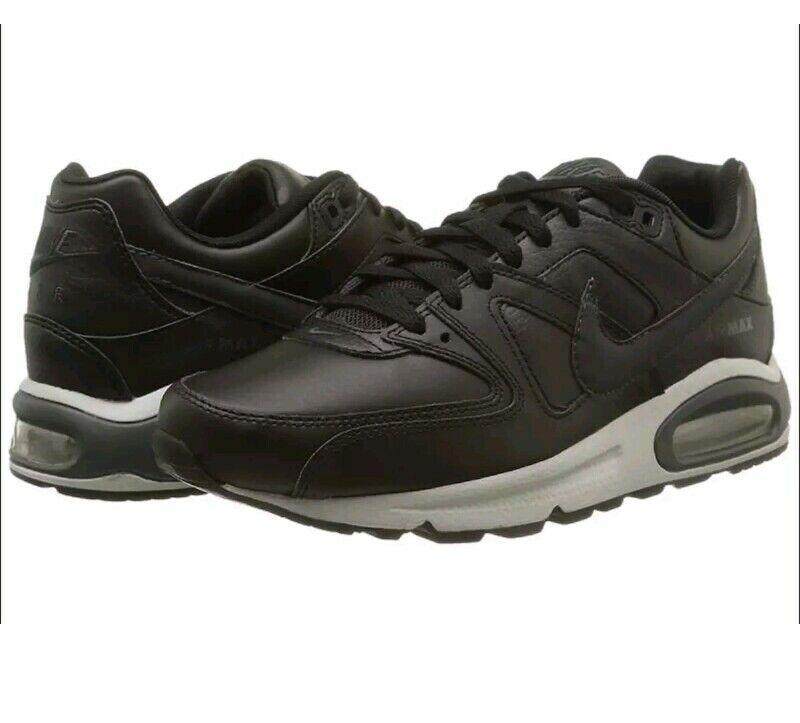 Para hombres Cuero Max Command Nike Air Talla UK entrenadores totalmente nuevo en caja para hombre 8 Reino Unido