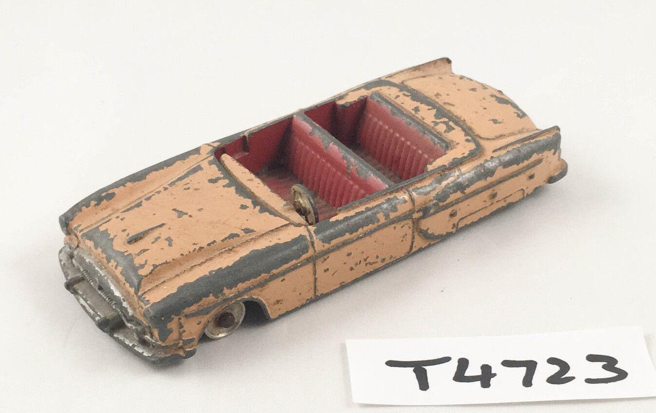 Muy raras Dinky Juguetes   132 Packard Converdeible Coche Diecast 1962-63 tan hilado Hubs