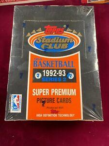 1992-93 Topps NBA Stadium Club Series 2 Box Shaquille O'Neal RC + Beam Team FS