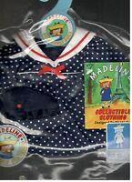 Madeline 15 Inch Doll Ragdoll Sailor Dress Hat Eden Blue White Polka Dot
