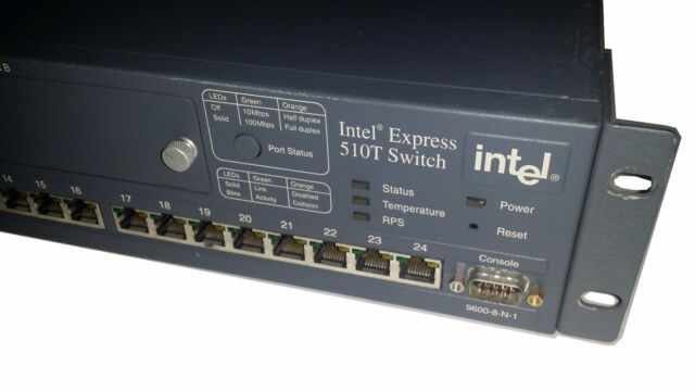 Intel Express 510T Switch - 24 Port Managed ES510T with 2-port 100FX Module