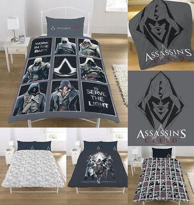 Garçons Assassins Creed Print Soft Couverture Enfants Réversible Housse Couette Ensemble De Literie