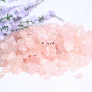 200g-Bulk-Tumbled-Stones-Pink-Rose-Quartz-Crystal-Healing-Reiki-Mineral-Pouch