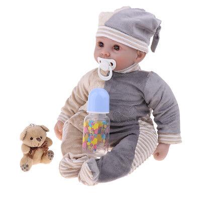 Real Life 22inch Blink Eyes Reborn Doll Newborn Baby Doll Kids Sleeping Toy