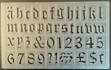 30mm HIGH OLD STYLE ENGLISH ALPHABET STENCIL-FORM LETTERS,NO'S & FIGURES- P/1610