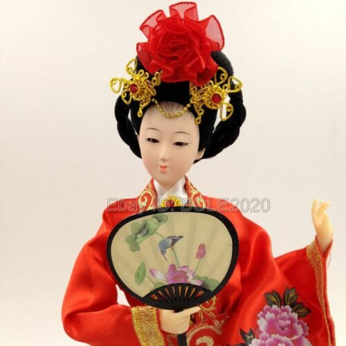 Chinese Ancient Four Beauty YangGuiFei Silk Figurine Oriental Art Embroider Doll
