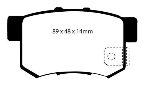 EBC GREENSTUFF BRAKE PADS FRONT DP21641 TO FIT FOCUS ST170 2.0i