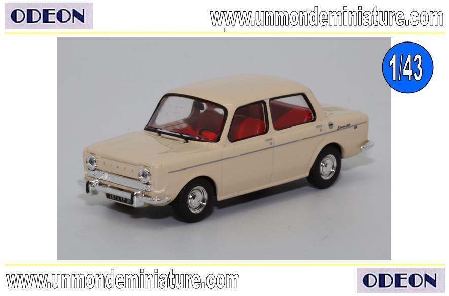 Simca 1000 de 1967 Ivoire ODEON - OD 008 - Echelle 1 43