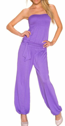 Overall Einteiler 2.Wahl lila flieder 36 38 Jersey Bandeau Bandeauoverall