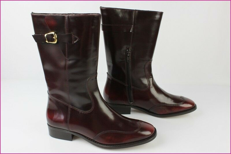 Boots Mid boots MELLOW YELLOW Leather Iced Bordeaux T 38 MINT