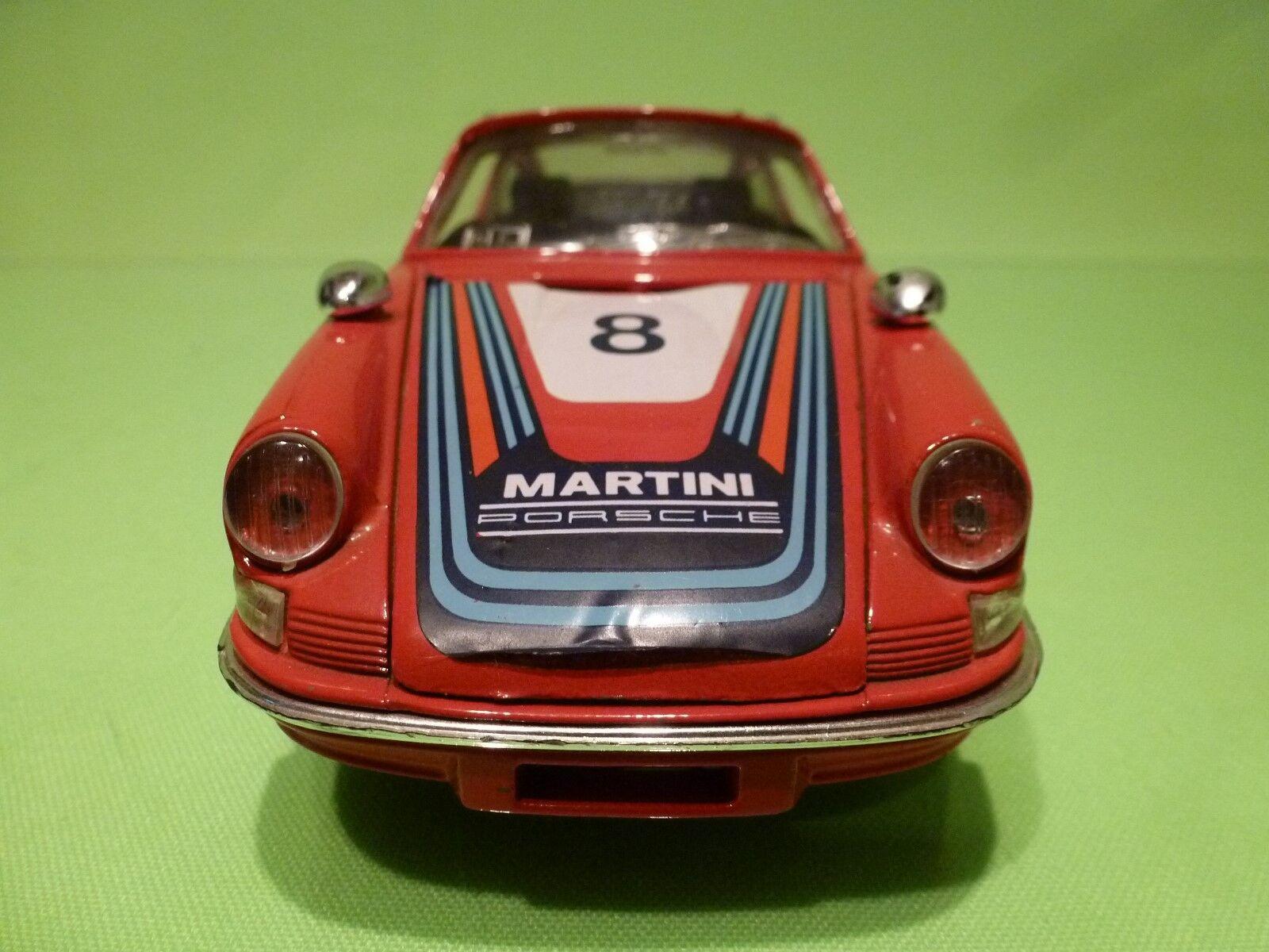 BBURAGO 1:24 - PORSCHE 911 NO= 0102 - 2 MIRROR MIRROR MIRROR MARTINI rosso  GOOD  CONDITION 7f4148