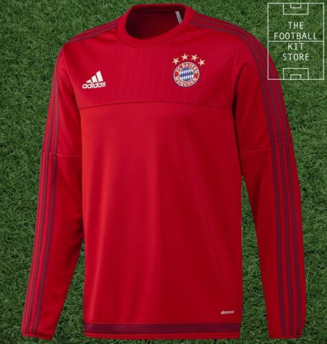 Bayern Munich Sweater Official adidas Boys Football Training Top All Sizes