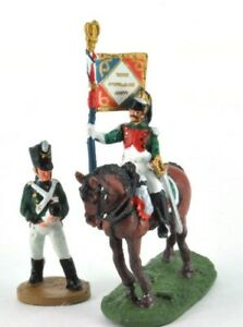 lead-figure-Soldier-Napoleonic-War-Austerlitz-Infantry-cavalry-Flag-carrier-D46