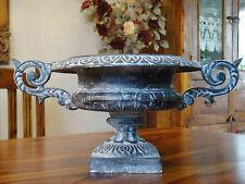Blumenschale Eisenguss Prunk Vase Blumenkübel Eisen Antik Pflanztopf Blumentopf