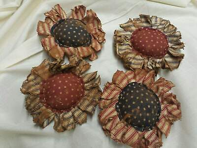 Primitive Flowers Bowl Fillers//Red-White//Farmhouse//Set of Six