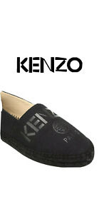NEW $219 Kenzo Logo Canvas Espadrilles