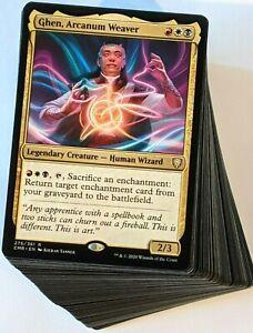 ***Custom Commander Deck*** Ghen, Arcanum Weaver - Enchantments - Magic Cards
