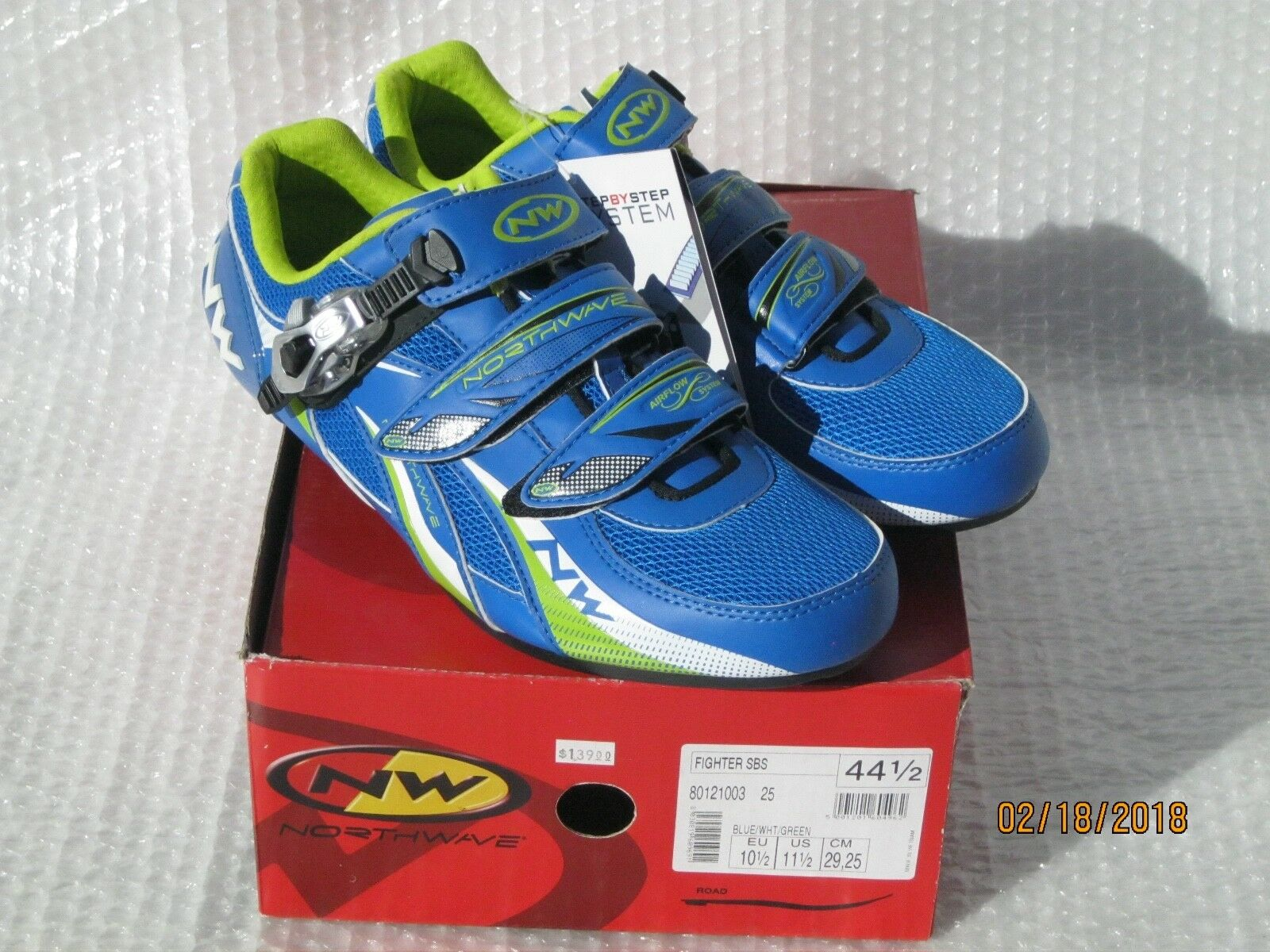 Road Bike cycling shoes NORTHWAVE Fighter SBS mens 44.5 bluee NEW