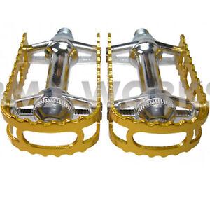 MKS-BM-7-Pedals-1-2-034-Gold-Old-School-Vintage-BMX-Mongoose-Redline-Skyways
