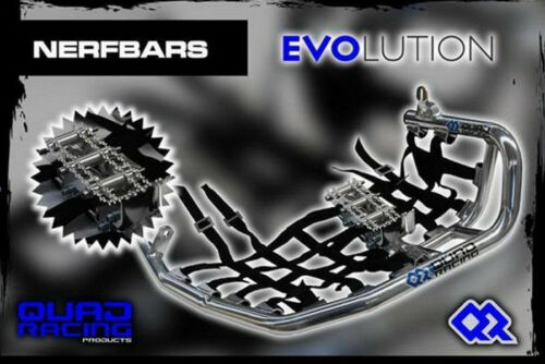 Nerfbars EVOLUTION CON heelguards /& predellini in NERO YAMAHA RAPTOR 660 YFM