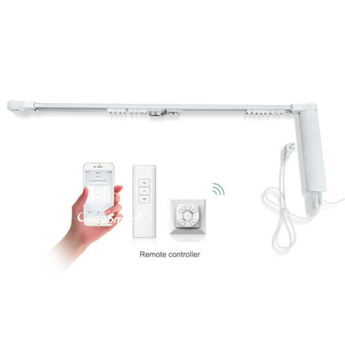 Smart Motorized Slide Shade Motor with Electric Curtain Tracks and Wall Switch