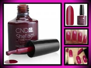 CND SHELLAC GEL NAIL POLISH UV LED LIGHT COLOR COAT.25 OZ TINTED LOVE BRICK RED