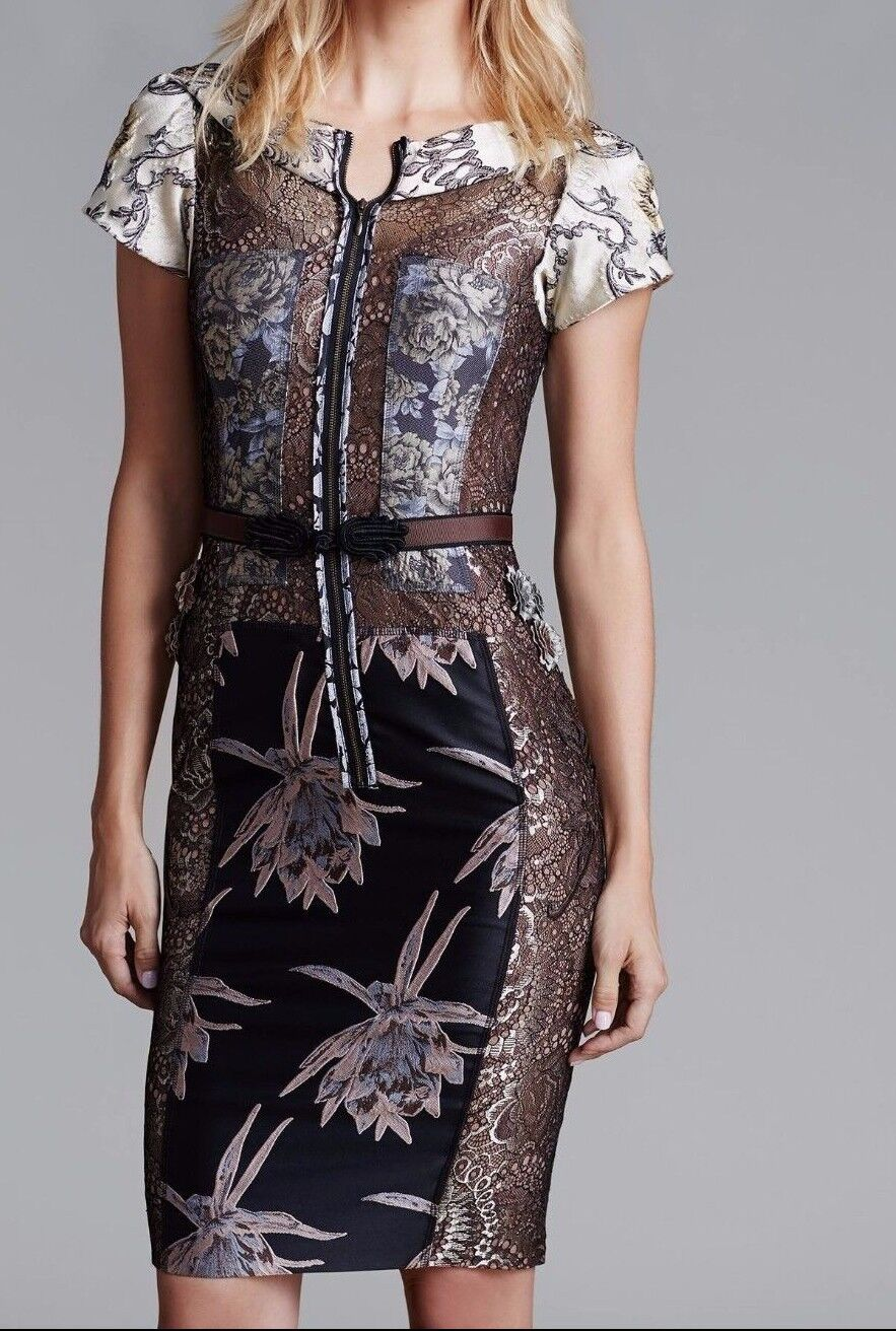 8ce14502172f0 Anthropologie Embroidered Brocade Dress From Beguile by Byron Lars ...