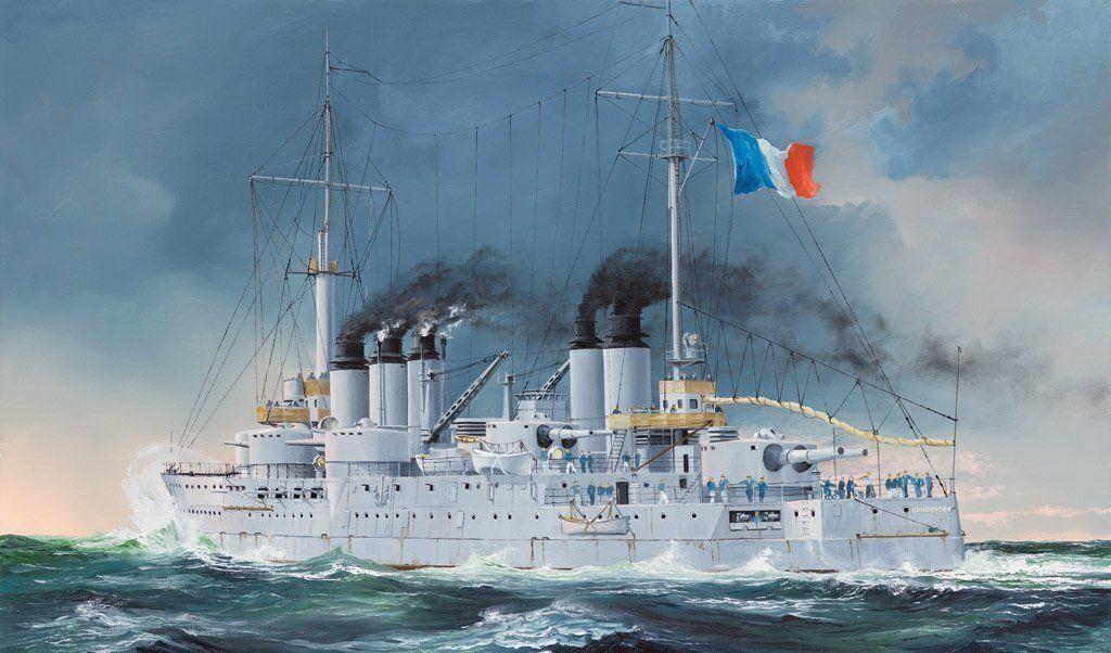 Hobby Boss French Navy Pre-dreadnought Battleship Condorcet 1 3 50 Kit 86515