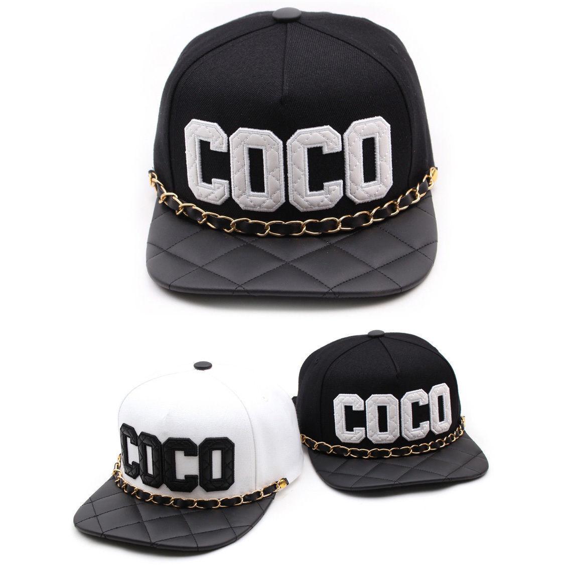 Unisex Casual Mens Womens Teamlife COCO Chain Hiphop Casual Unisex Baseball Cap Strapback Hats d659d6