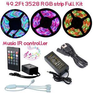 49ft 15M 3528 RGB LED Strip Light Christmas String+Sync to ...