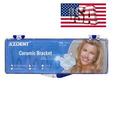 Usa Dental Orthodontic Ceramic Brackets Smooth 55 Slot Roth 0022 3 4 5 Hooks