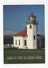 Alki Point Lighthouse Seattle USA 1993 Postcard 350a ^