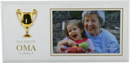 Beste Freundin Opa  m Pokal MDF für Foto 10x15cm Bilderrahmen Fotorahmen Welt