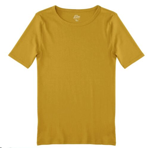 Chartreuse Yellow-Green Perfect Fit Elbow Sleeve Tee Women/'s L J.Crew NWT