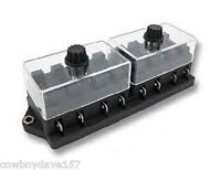 Fuse Block With Clear Cover Accepts 8 Ato/atc Fuses 8 Gang