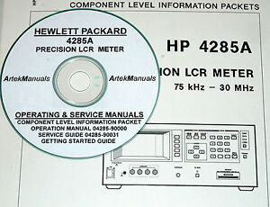 Details about HP Hewlett Packard 4285A LCR Meter Ops & Service Manuals  w/Schematics 4-Volumes