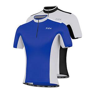 FDX-Mens-Cycling-Jersey-Half-Sleeve-Top-Cycle-Racing-Team-Quality-Biking-Top
