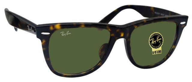 b04cf925af Ray Ban RB2140F 902 wayfarer tortoise frame crystal green lens sunglasses  new