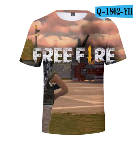 2020 New Arrival Free Fire Print T Shirt Male Female Short Sleeve T Shirts Free Ebay