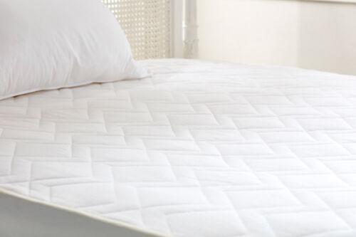 Premium 100/% Naturel Laine Pure matelas protecteur avec en pur coton couvre