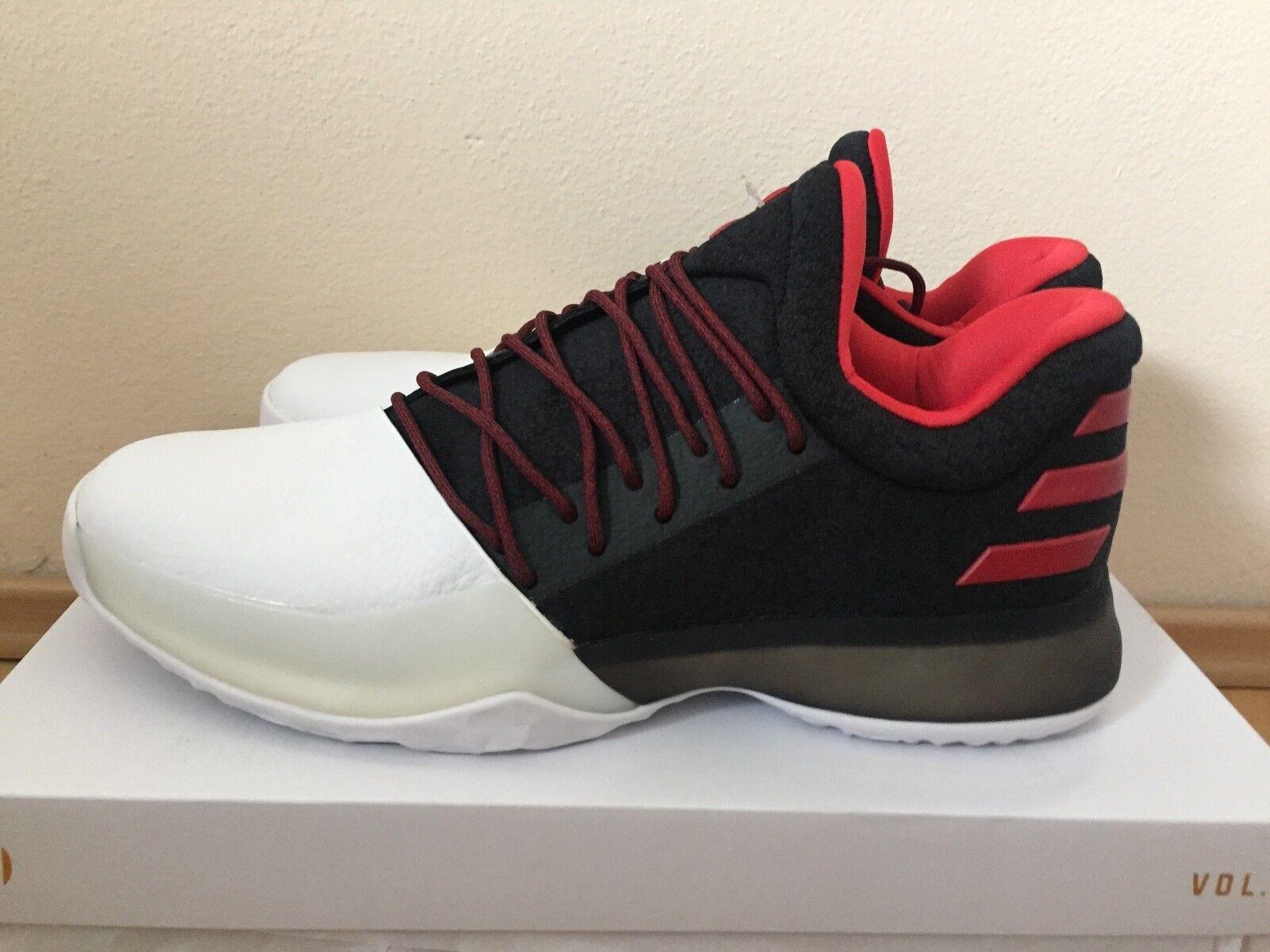 Adidas Harden Vol.1 BW0546 Negro blancoo Performance luz escarlata Baloncesto Zapato