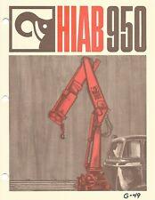 Equipment Brochure Hiab 950 Truck Crane Lift E6795