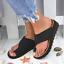 US Lady Comfy Platform Sandal Shoes Ankle Strap Peep Toe Correction  Support