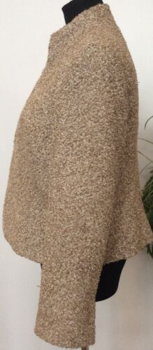 Tekstureret Sz14 Polyester Tweed Beige Jakke New Kvinder Lafayette Blazer York Blend B6agfcX