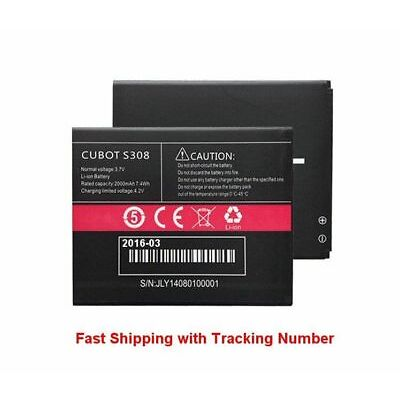 New for Cubot S308 Battery 2000mah Batterie Bateria - Fast Shipping