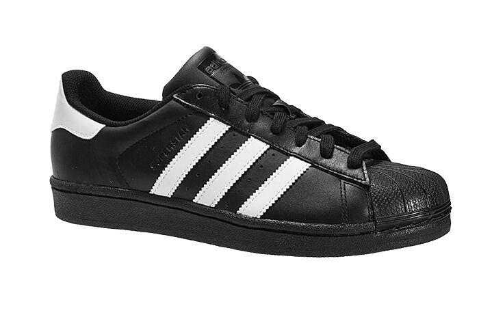 adidas 'Originals' Superstar Foundation Trainers - noir /blanc -B27140-Size 7-12