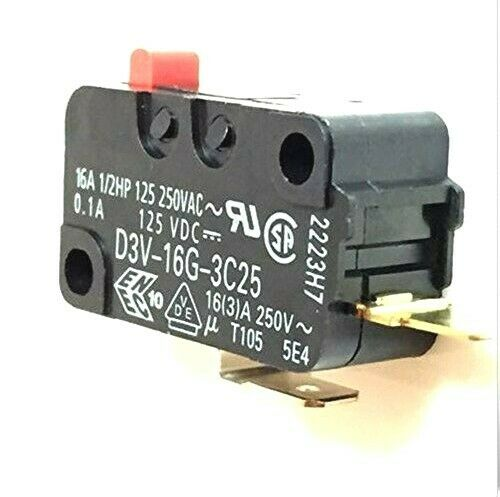 Snap Micro Switch D3V-16G-1C25 D3V-16G-3C25 Microwave Oven Normally Open for Frigidaire 5304440026 Microwave Pack of 2