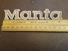 Vintage Opel MANTA Metal Script Emblem - 3459302