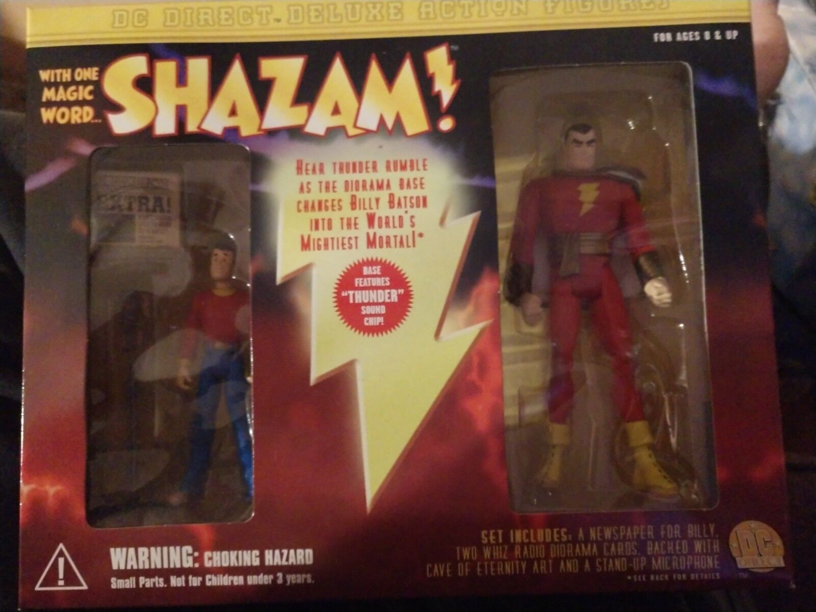 DC Direct SHAZAM & BILLY BATSON Deluxe Action Figure Set New in box 2000