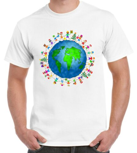 Christmas World Planet Earth Men/'s T-Shirt